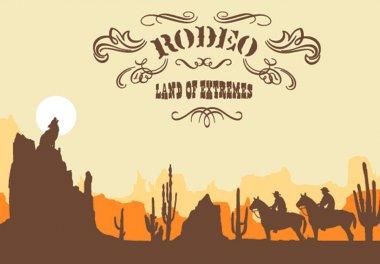 Cowboy. Wild West Western Elements