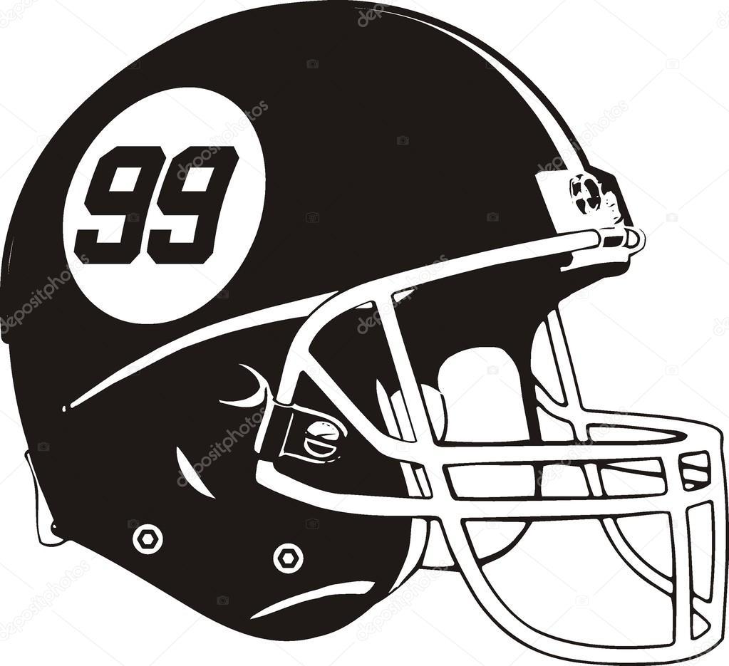 Vector casco de fútbol americano — Vector de stock 7d96295e35b