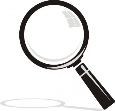 Vector. Magnifying glass on background