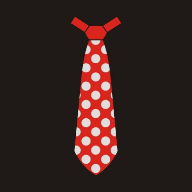 Vector tie red on black background