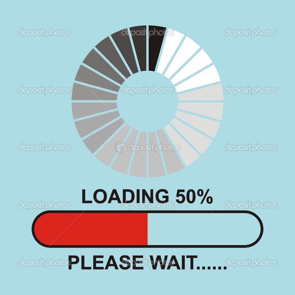 Loading.please ожидания.. - Векторное изображение © halimqd