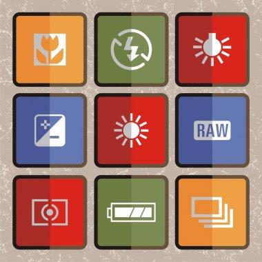 Flat icon set, Photography