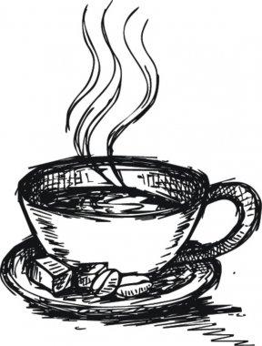 Sketch Coffee and sugar