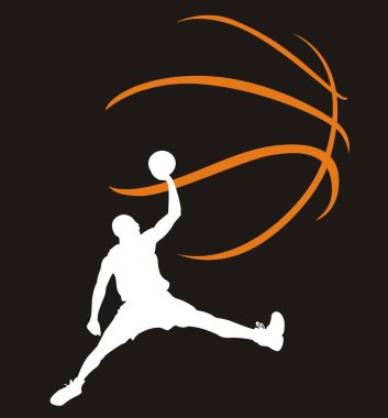 Basketball player in a jump
