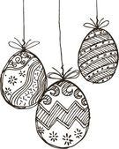 Fotografie Skizzieren Sie Frohe Ostern