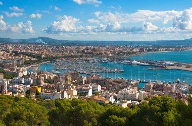 The City Palma de Majorca from a bird's eye view. Balearic islands.Spain