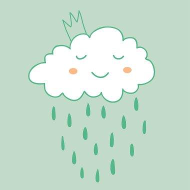 Raining princess cloud