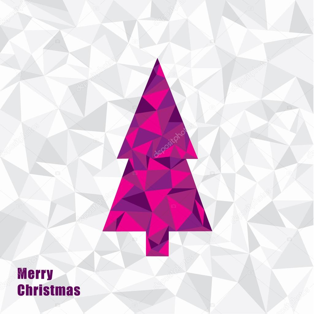 Vector Christmas illustration. Triangle Christmas tree. Fractal ...