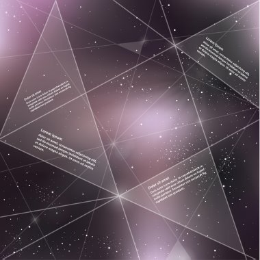 Vector futuristic template with universe background.