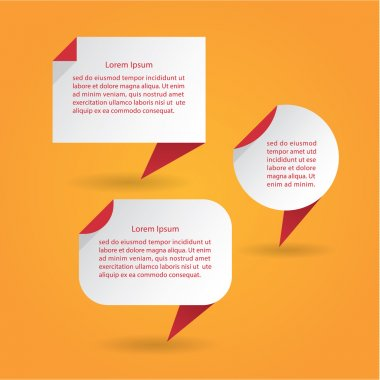 Vector flat speech bubbles. Modern design speech bubbles with dr