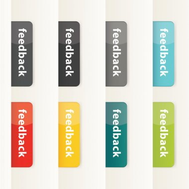 Vector feedback buttons for your website. Modern design button i