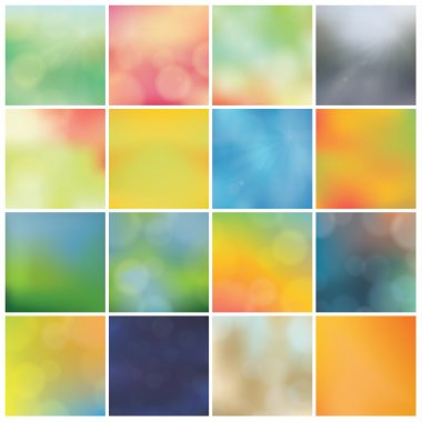 Vector blurred backgrounds - huge pack. Trendy colorfully - boke