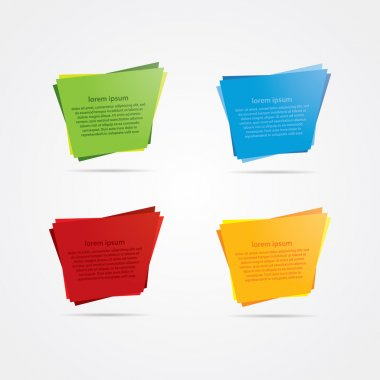 Four vector banners. Four templates in trendy colors. Labels wit