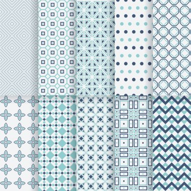 Pack of decorative vector patterns.