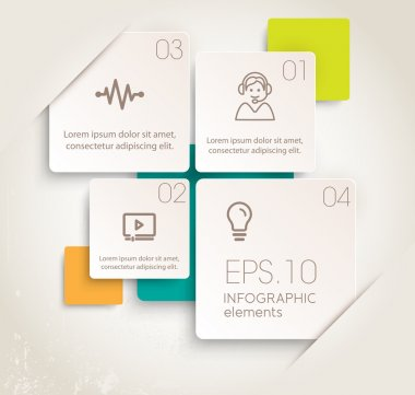 Modern design of infographic elements. Vector illustrations stock vector