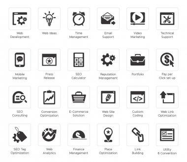 Seo and development icon sets