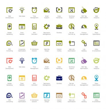 Seo and development icon sets