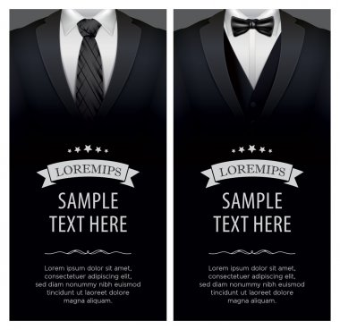 Suit and tuxedo business card