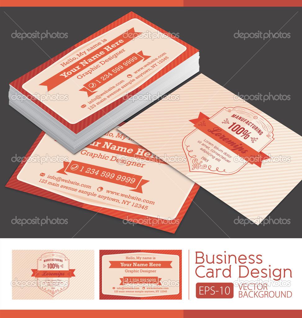 Vector retro vintage business card — Stock Vector © siak10b #36241113
