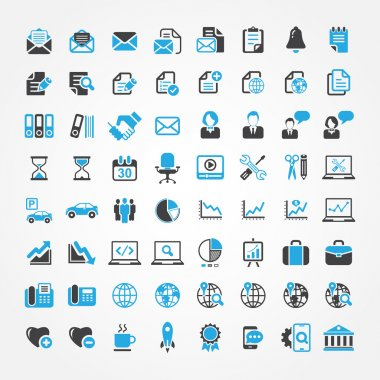 Web icons for business, finance and communication