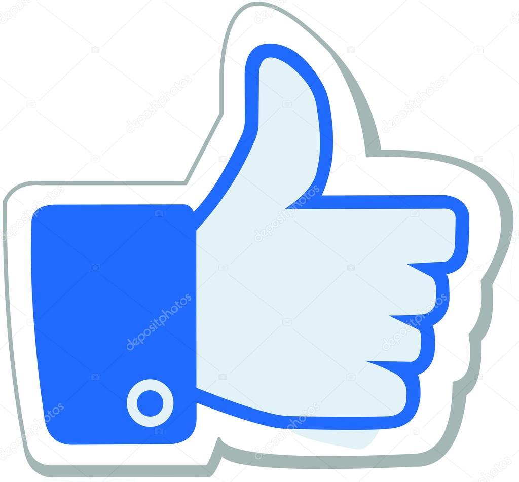facebook like button stock vector pikachyyyy 37140437 rh depositphotos com facebook like us button vector facebook new like button vector