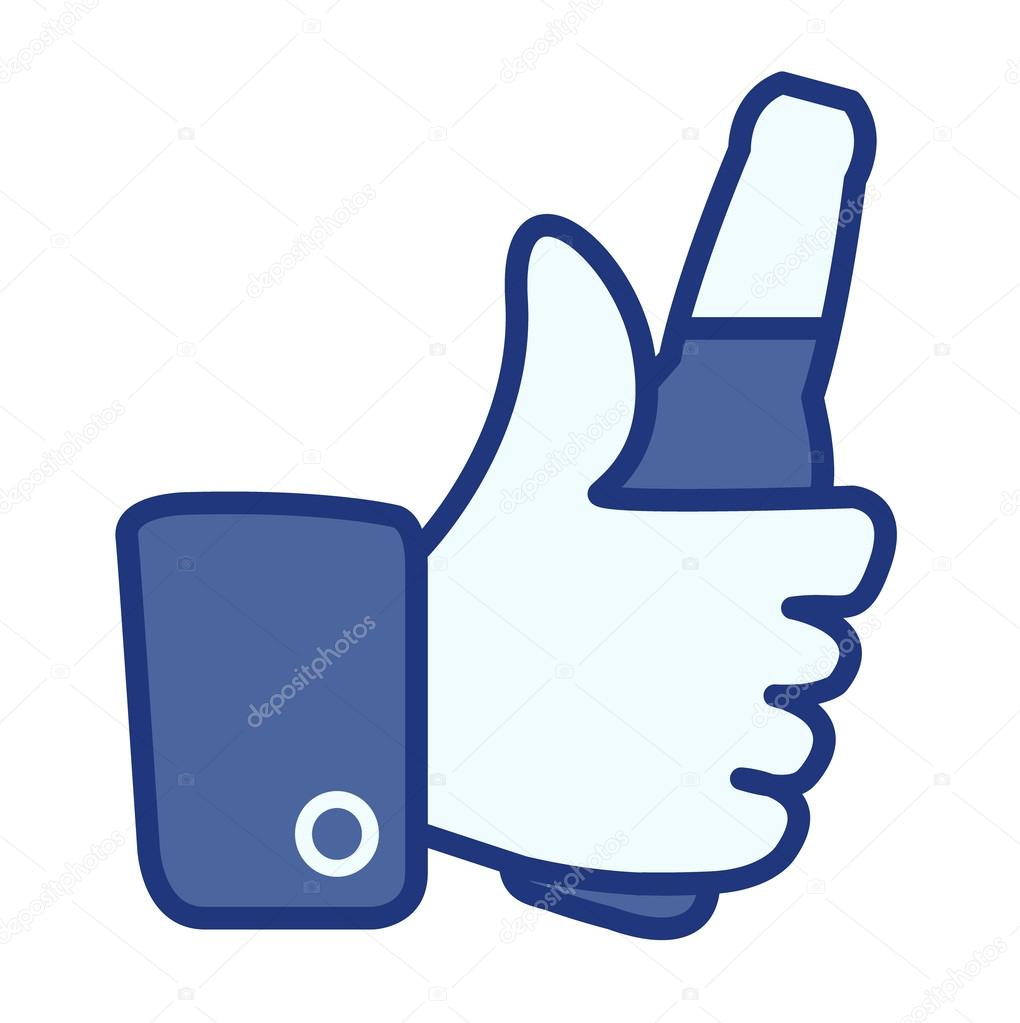 Like thumbs up symbol icon with beer bottle, vector illustration