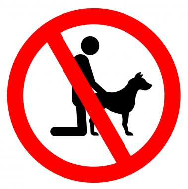 No sex with animal sign (Not here)