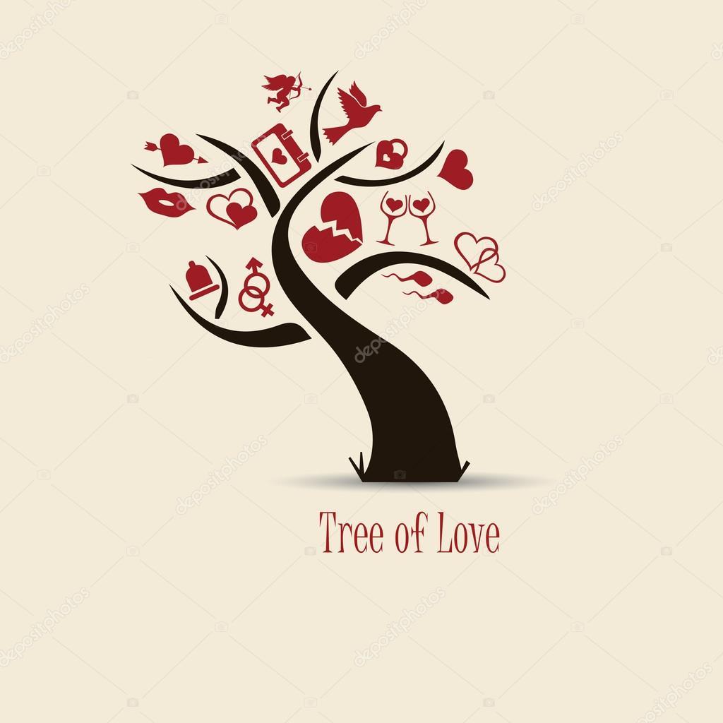 árbol Del Amor Archivo Imágenes Vectoriales Michalsochor 44818083