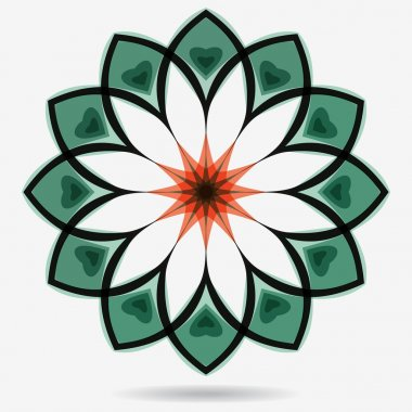 Vector eco icon, flower design element