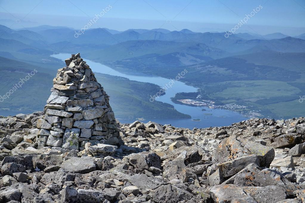 View from the Ben Nevis summit