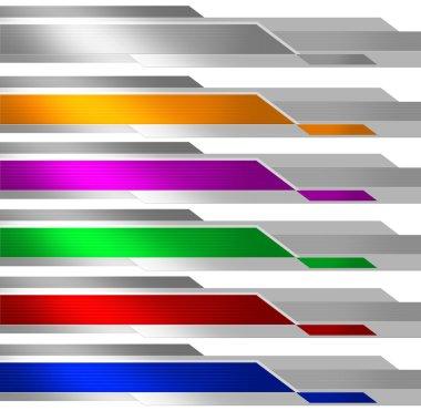 Banner Metalic Multicolor