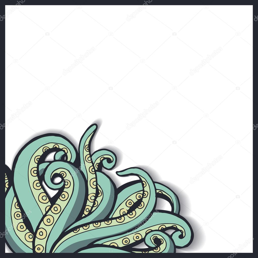patrón con tentáculos de pulpo — Vector de stock © Martimar #50584663