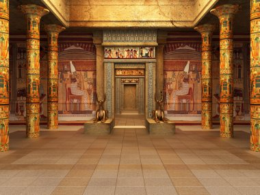 Pharaoh's Tomb ( 3d rendering )