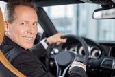 glücklicher Autobesitzer.