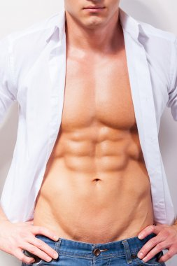 Handsome young muscular man