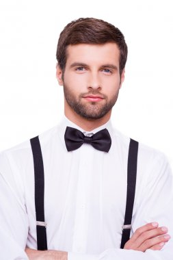 Man in white shirt and bow tie