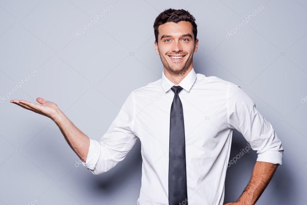 mann im hemd und krawatte mit textfreiraum stockfoto gstockstudio 48814017. Black Bedroom Furniture Sets. Home Design Ideas