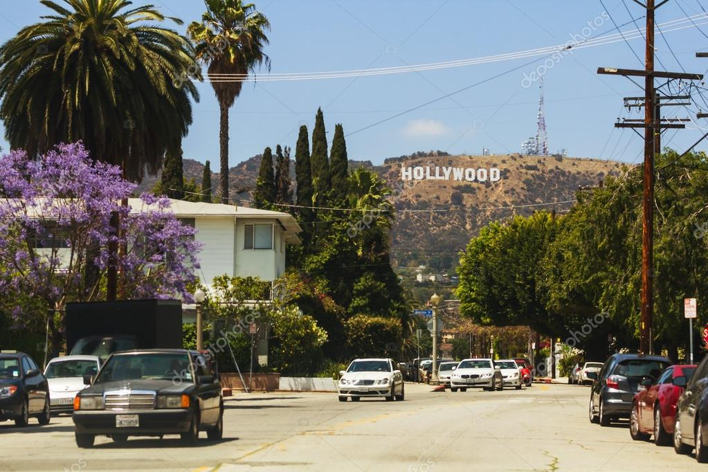 Vine 2 Release >> View of Hollywood sign from the city – Stock Editorial Photo © razyphoto #41713231