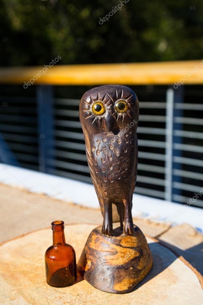 Wooden Owl Wedding Decor Stock Photo Joshuarainey 37139145