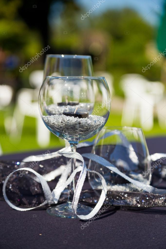 Wine Glass Wedding Reception Stock Photo Joshuarainey 37153675