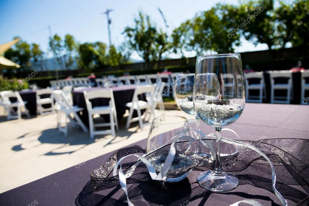 Wine Glass Wedding Reception Stock Photo Joshuarainey 37153729
