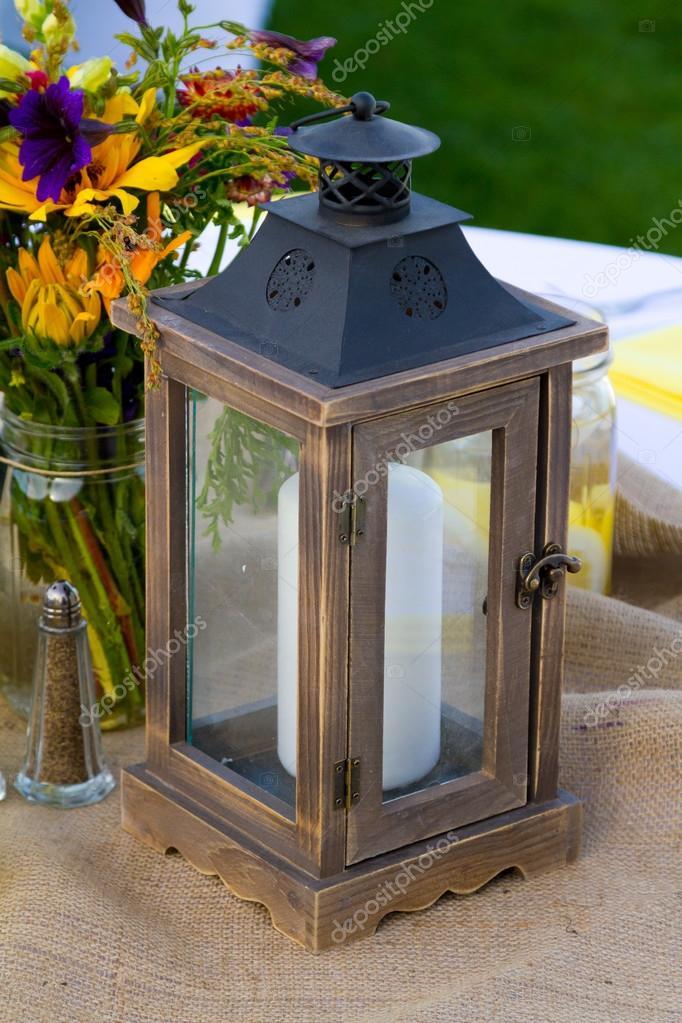 Wedding Centerpiece Details — Stock Photo © joshuarainey #37398565
