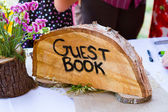 Photo Crosscut Tree Guest Book Sign