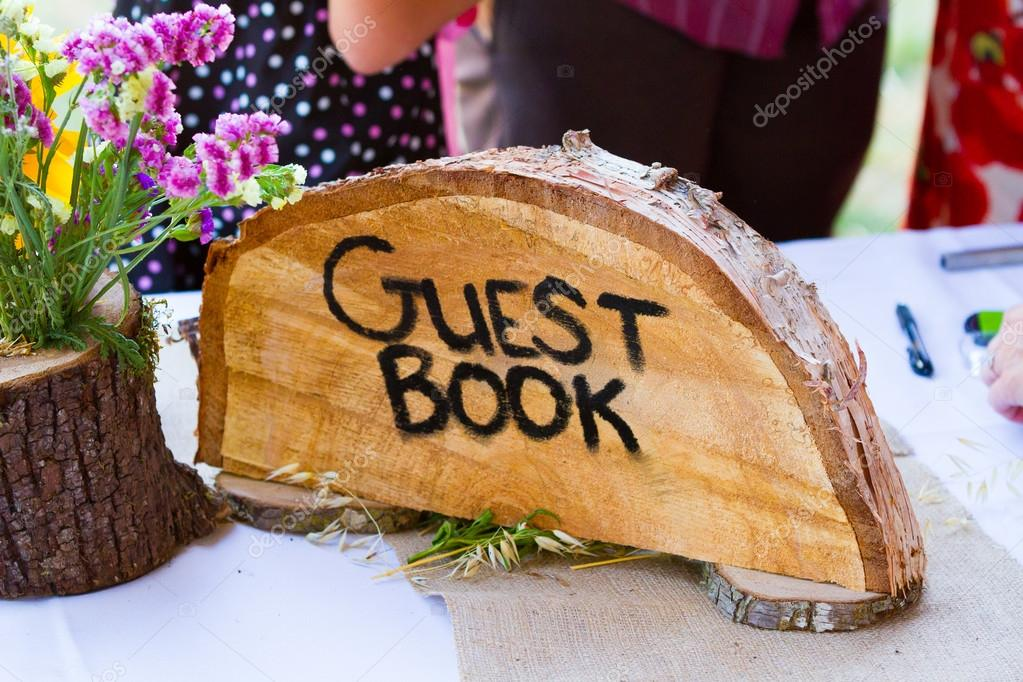 Crosscut Tree Guest Book Sign