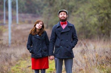 Happy Engaged Couple Portrait