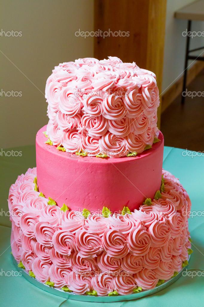 rózsaszín esküvői torta rózsaszín esküvői torta — Stock Fotó © joshuarainey #46570485 rózsaszín esküvői torta