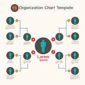 Šablona organizačního diagramu, firemní prezentace