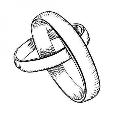 wedding rings doodle