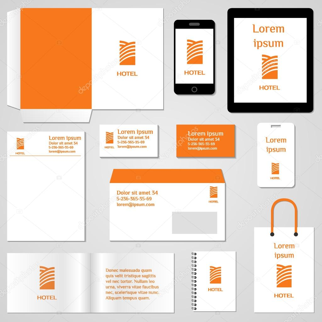 corporate identity template stationery template design