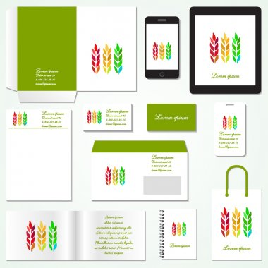 Corporate identity template. Stationery template design. Documentation for business. Vector illustration.